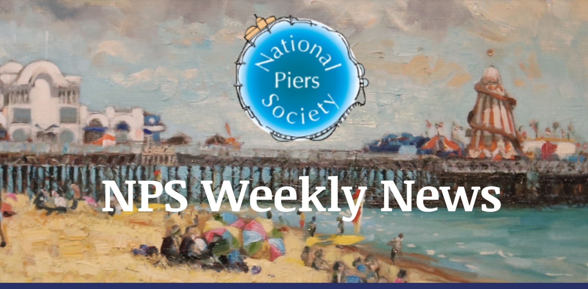The National Piers Association have kindly used my latest painting of South Parade Pier for the front cover of their weekly News Letter.